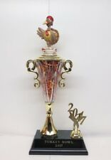 Turkey Bowl / Fantasy Football Champion / Loser Trophy Crystal Cup Hand Painted