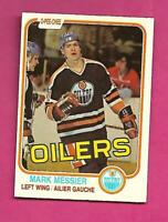 1981-82 OPC # 118 OILERS MARK MESSIER 2ND YEAR EX-MT CARD (INV# D2599)