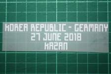 GERMANY World Cup 2018 Away Shirt Match Details KOREA REPUBLIC Vs GERMANY