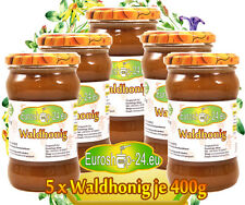 Waldhonig Honignektar, 100 % hausgemacht, 5 Gläser je 400g Лесной сбор Медовый