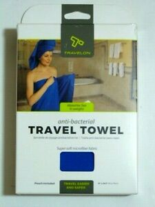 """NIB* L/XL 51x30"""" Travelon Anti-bacterial Travel /Sports Towel  MICROFIBER"""
