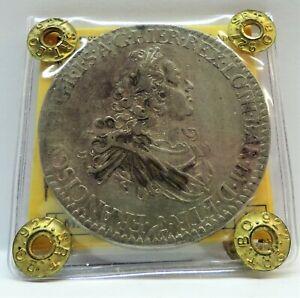 RARA (R2) MONETA ARGENTO TOSCANA 1747 FRANCESCONE, COND. BB/SPL PERIZIATO