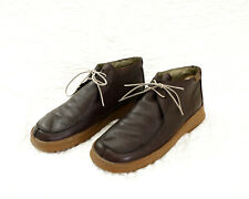 ** CAMPER ** CASUAL MENS LEATHER SHOES WITH RUBBER SOLE - BROWN, SIZE 9.5 UK
