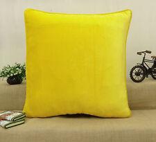 Dekorative gelb samt Stoff Solid Kissen werfen Home Dekor Kissen Cover Case