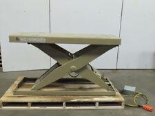 Southworth 2000lb Hydraulic Scissor Lift Table 66x24 Top 10 38h 230460v 3ph