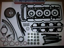 BMW MINI 1.6 COOPER-S & WORKS 01-06 TIMING CHAIN KIT + HEAD GASKET SET & BOLTS