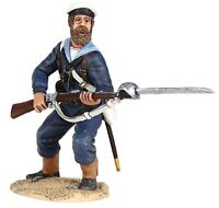 BRITAINS SUDAN WAR 27061 BRITISH NAVAL BRIGADE SAILOR STANDING DEFENDING MIB