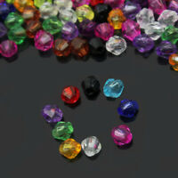 Loose 200pcs Faceted Bicone Acrylic Beads 4mm Spacer Jewelry Findings nice sfds