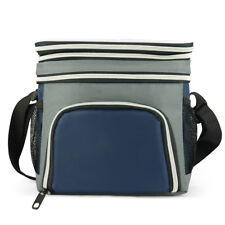 EAGLEMATE Expandable Double Compartments Lunch Cooler Bag Great For School,Works
