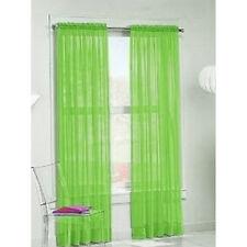 2 Piece Sheer Panel Set Voile Door Window Curtain  Scarf Valances Drape 12 Color