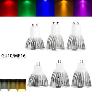 Multi-color Dimmable LED Spotlight Bulbs 9W 12W 15W GU10 MR16 110V 220V 12V Lamp