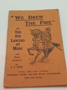 Collectable wwi military booklet 9th lancers at Mons soldiers home Weymouth