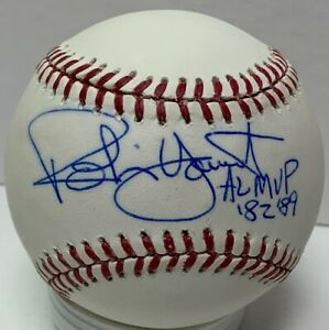 """Brewers Hall of Famer ROBIN YOUNT Signed Official Baseball AUTO w/ """"MVP""""  JSA"""