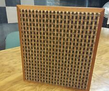 Vintage Square Wooden speaker retro look. Tested and works