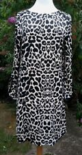 Wallis Leopard Print Tunic Dress UK 10 Animal Print Viscose Smart Office