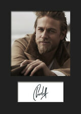 CHARLIE HUNNAM #2 A5 Signed Mounted Photo Print - FREE DELIVERY