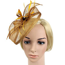 74de985315a0d Women Fascinator Feather Cocktail Party Pillbox Hat Flower Wedding Party Hat