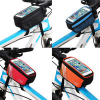 "Bicycle Cycling Bike Frame Front Tube Waterproof Smart Phone Bag 5.0"" Portable"