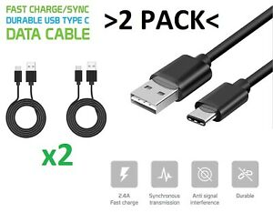 2x Durable Type-C Fast Charging Data Charger Cable for Galaxy S10+ iPad Pro 11