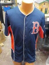 Majestic Mlb Boston Red Sox Baseball Button Up Jersey - Size Medium Nwt