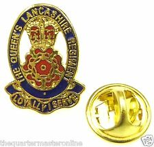 Queens Lancashire Regiment Colours Lapel Badge QLR-B