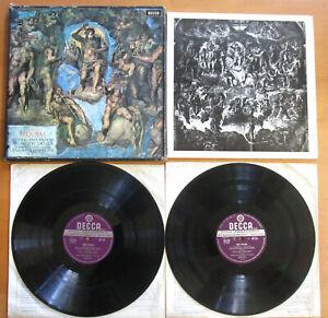 SET 374-5 Verdi Requiem SIGNED by Solti Pavarotti Sutherland Horne Decca WB 3xLP