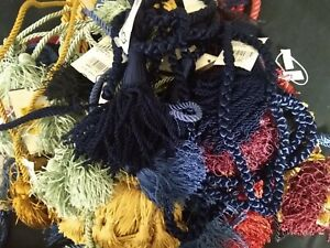 """Lot of  31 tassels / curtain tiebacks Conso 27"""" chairtie with 3"""" tassel and more"""