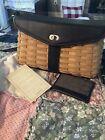 Longaberger Signature Hostess Shoulder Bag Basket Purse w/Leather Trim