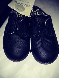 Carters Shoe Size 7 Black Leather Dress Shoes