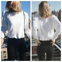 2 NEW Brandy Melville White Waffle  long sleeve LAILA thermal tops thin version