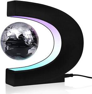 JOWHOL schwebender Globus, automatische 360-Grad-Drehung, Globus beleuchtet Neu