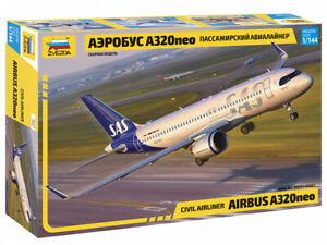 Zvezda 7037 Civil Airliner Airbus A320neo 1/144