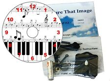 DIY CD Clock KIT. Musical Notes, Piano keys and Sheet Music Wall or Desk Clock.