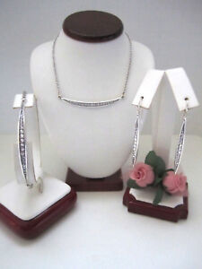 "Brighton ""CONTEMPO ICE"" Necklace-Earring-Bracelet Set (MSR$154) NWT/Pouch"