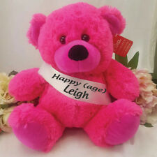 Birthday Bear with Sash- HPink |18th, 21st, 30th,40th, 50th, 60th
