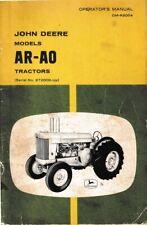 New listing John Deere Models Ar-Ao Operator's Manual, Vintage