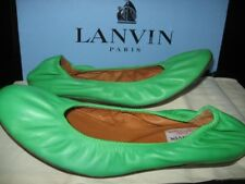 LANVIN Green Leather Ballerinas Flats Shoes Size 36 $480