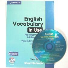 Cambridge English Vocabulary in Use pre - intermediat & intermedia B1 English CD
