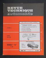 REVUE TECHNIQUE AUTOMOBILE RTA RENAULT 16 9CV VOLKSWAGEN VW COCCINELLE  n°299