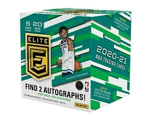 2020-21 Panini Donruss Elite NBA Card Online Hobby Box SINGLE PACK