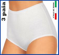 3 mutande donna in cotone elasiticizzato vita alta culotte mutanda intimo slip