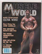 MUSCLE WORLD bodybuilding magazine/Boyer Coe w/poster 7-81