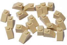 LEGO - 20 x Dachstein 45 gradi 2x1 sabbia/Tan Slope 45 1x1/3040 Merce Nuova
