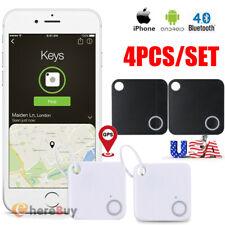 4x GPS Tracker Anti-Lost Bluetooth For Pet Dog Cat Keys Wallet Bag Kids Finder