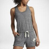 Nike Women's Sportswear Gym Vintage Romper Heather Gray AA3873-091 NEW