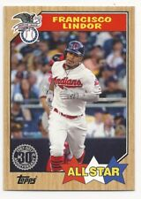 Francisco Lindor 2017 Topps Mini 1987 Insert #87-133 Indians Online Exclusive