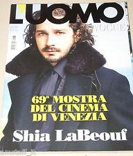 L'UOMO VOGUE MAGAZINE=2012/433=SHIA LABEOUF=KASIA SMUTNIAK=MOSTRA CINEMA VENEZIA
