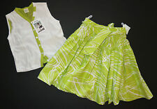 Jottum Euro boutique girl green Topsy skirt Kedinne vest top shirt 134/140 8 9