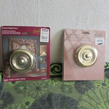NEW~ YOUR CHOICE OF KIRSCH SWAG or SCARF HOLDERS. ROUND, GOLD TONED...