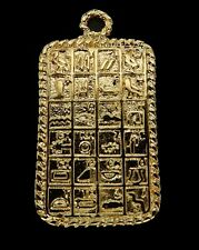 Egyptian Charms or Pendants /Ancient Egyptian Alphabet  / Gold Tone Brass